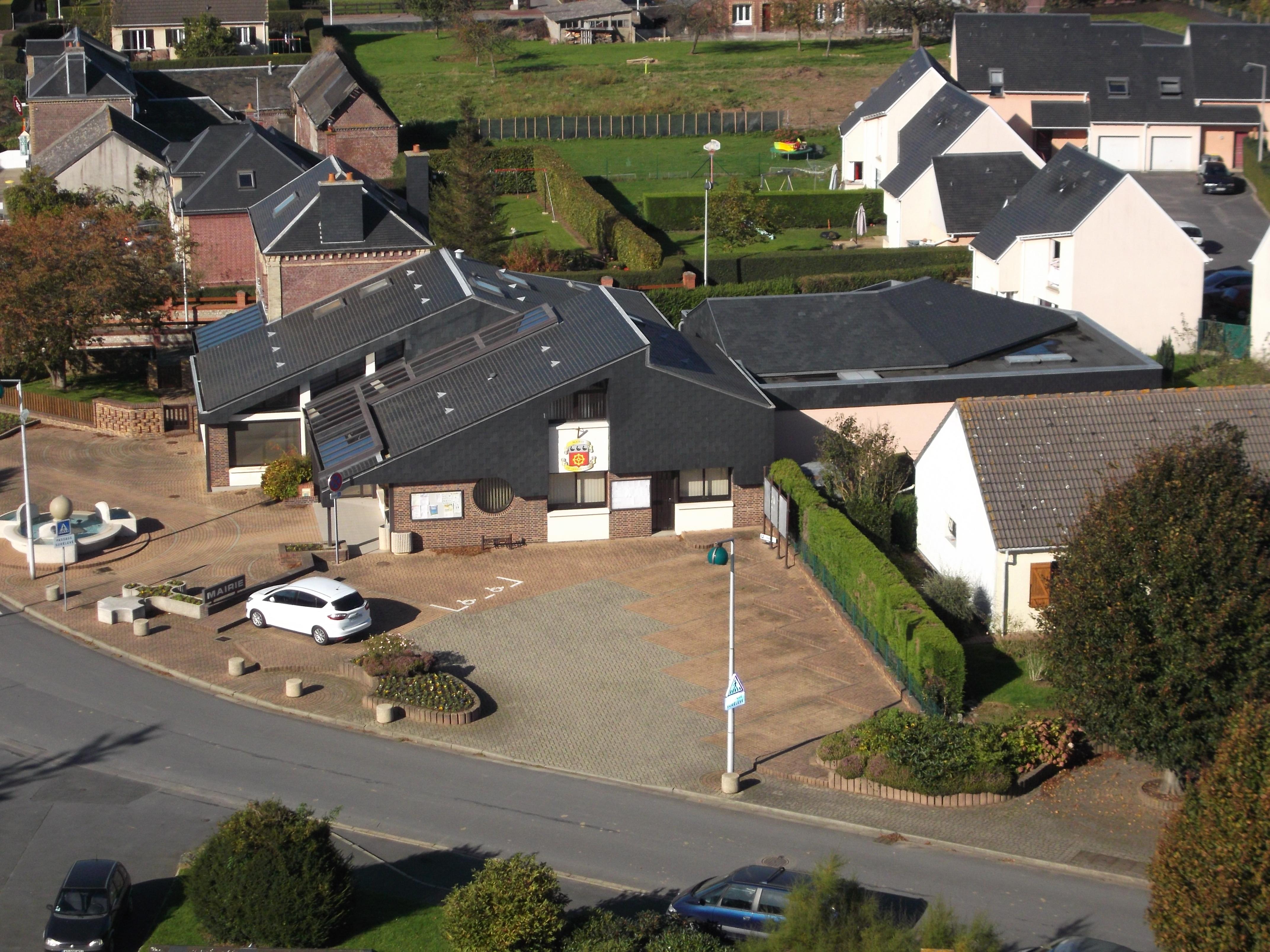 place mairie vue aérienne