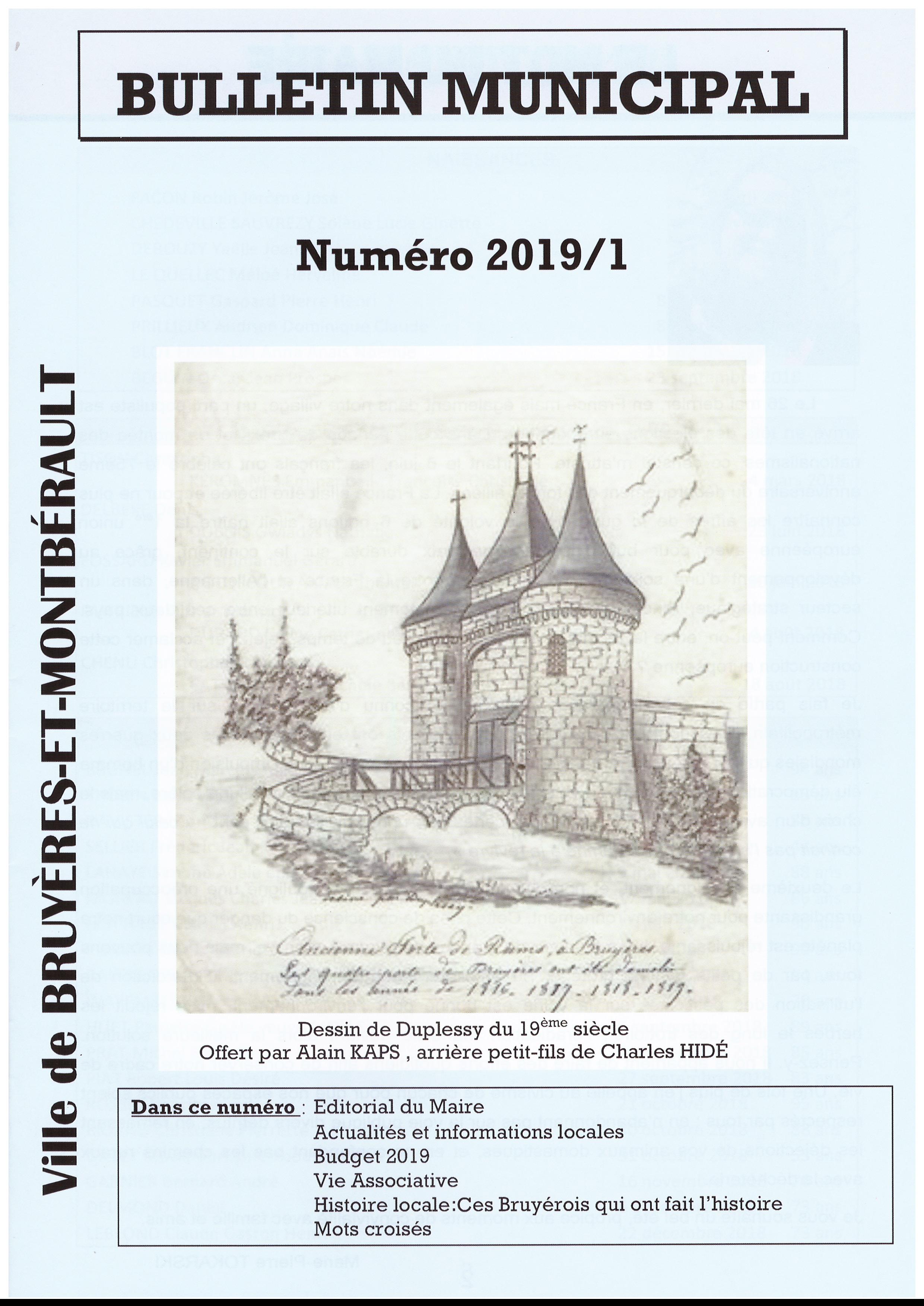 Bulletin Municipal n° juin 2019 - 1