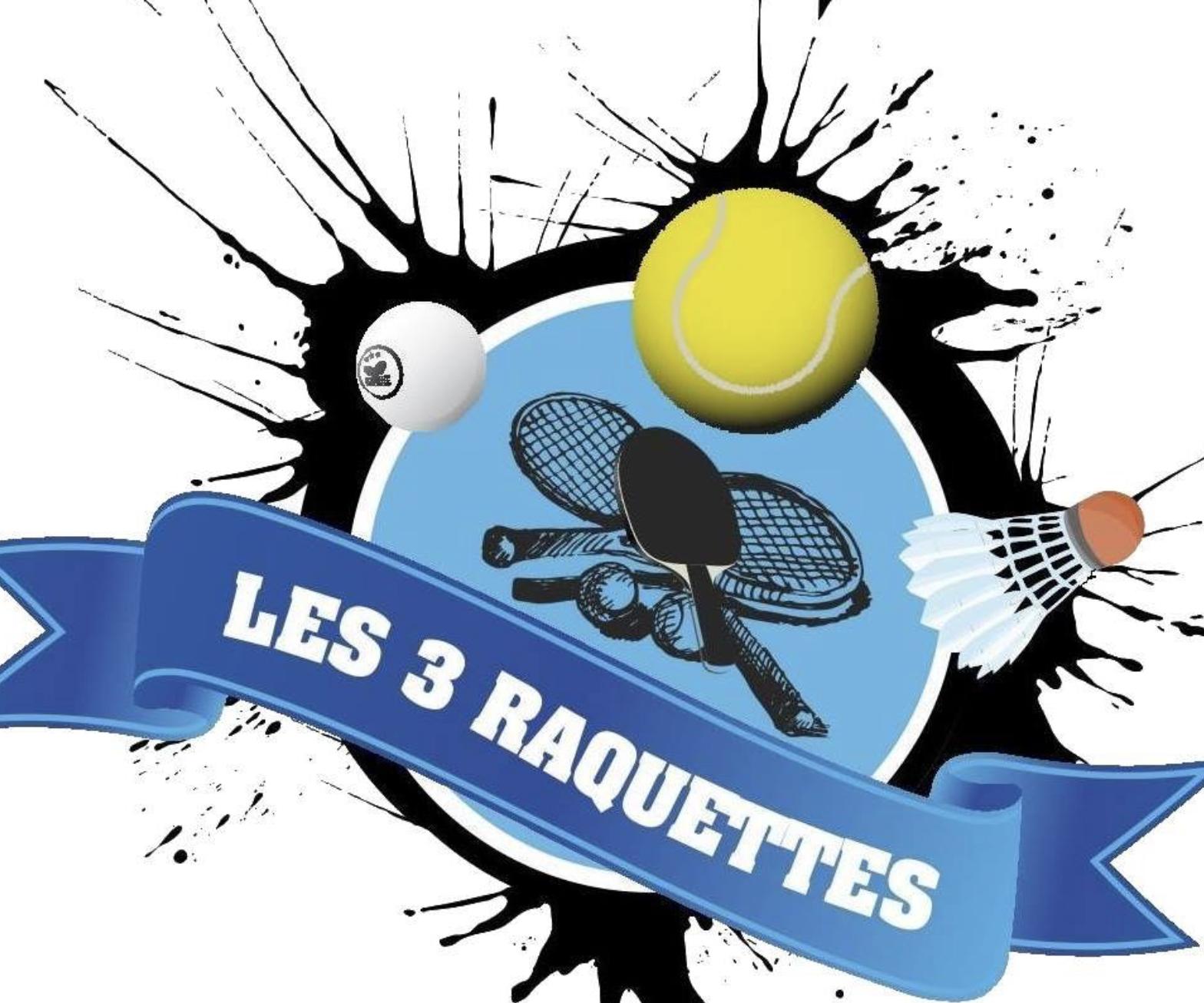 logo les 3 raquettes