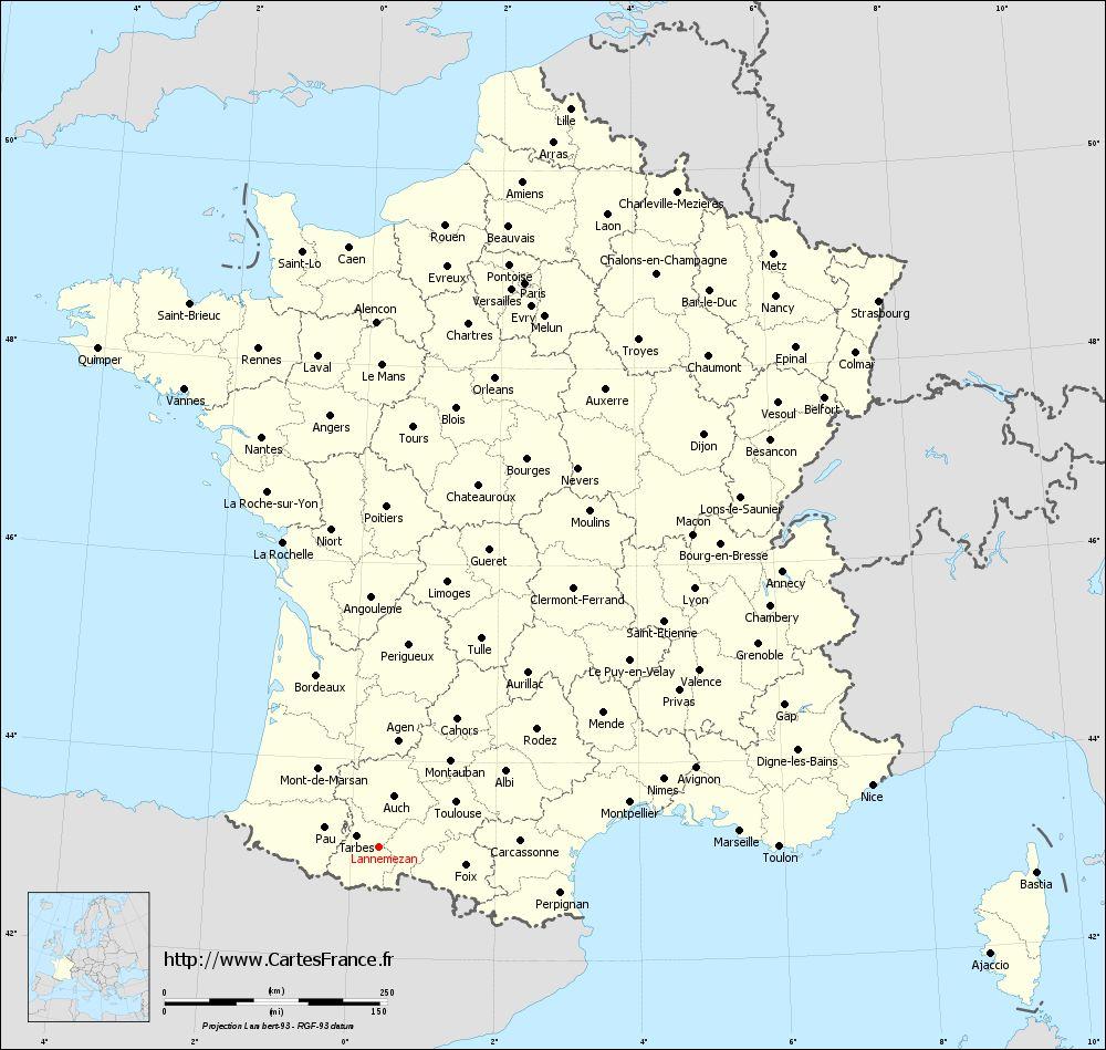 carte-administrative-lambert-departements-Lannemezan.jpg