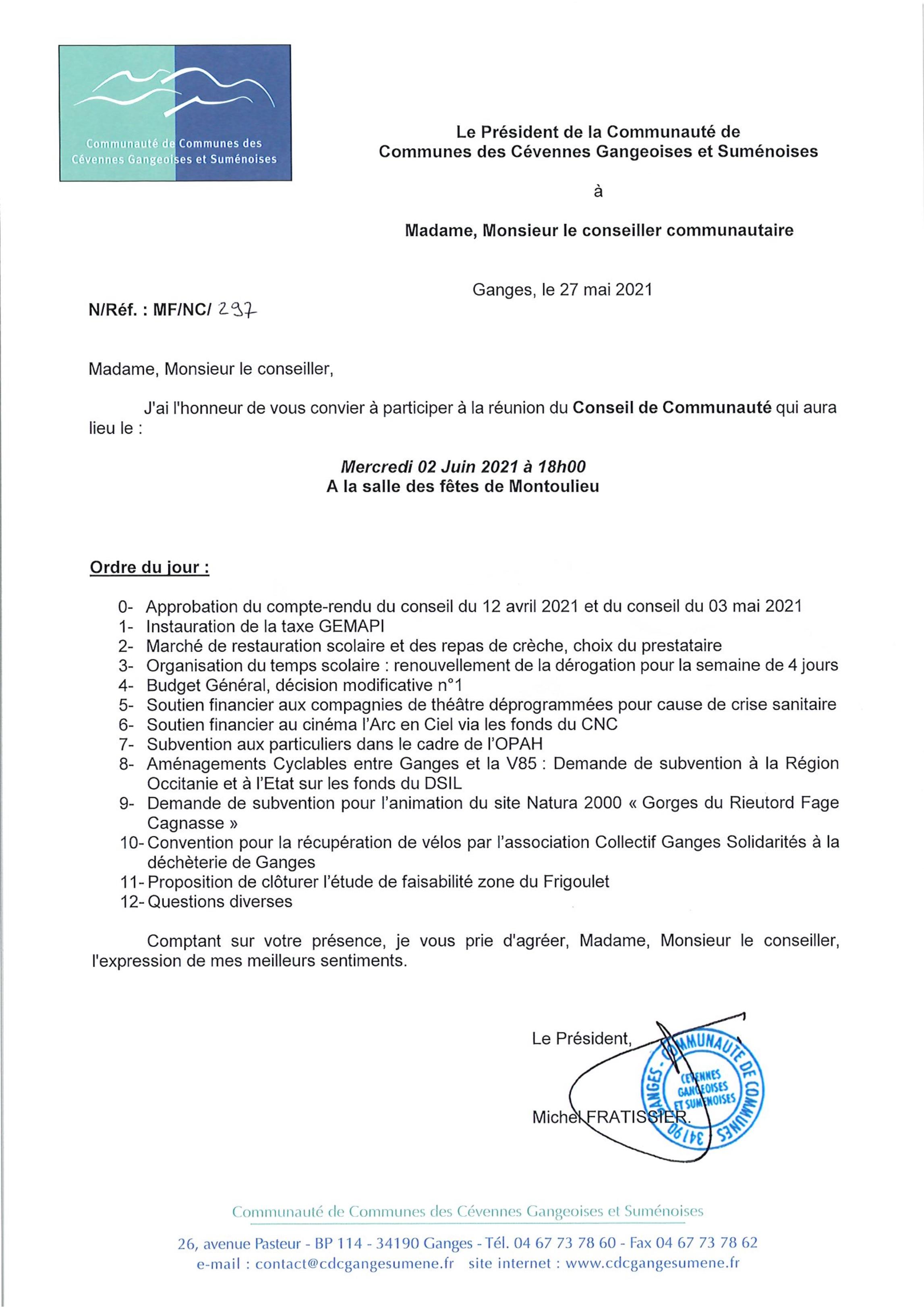 Convocation conseil communautaire du 2 juin 2021.jpg