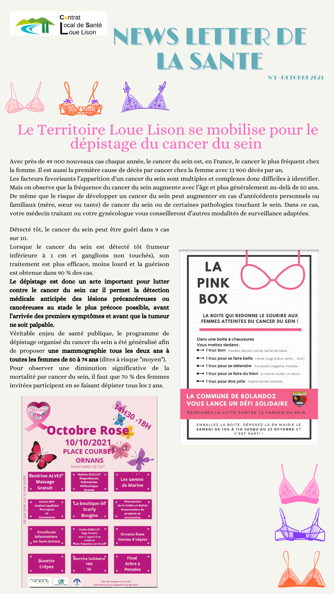 Orange et Violet Soutien-gorge Cancer du Sein Sensibilisation  Rose Octobre Instagram Story.png
