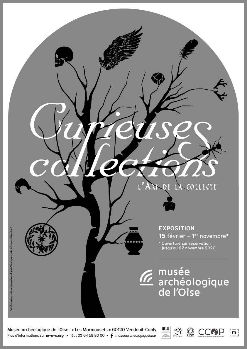 Affiche exposition Curieuses Collections 2020