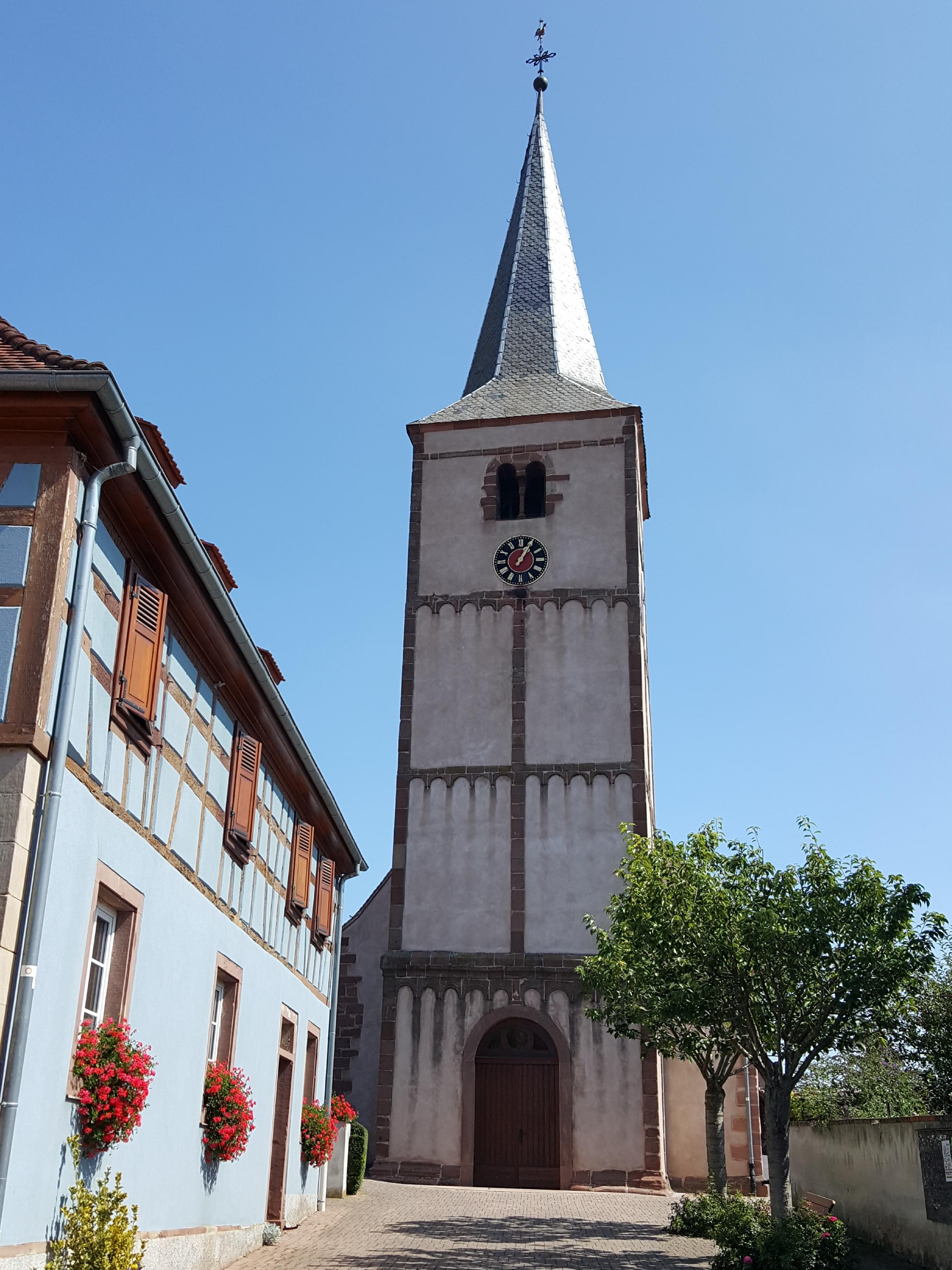 Vue rue de l'église