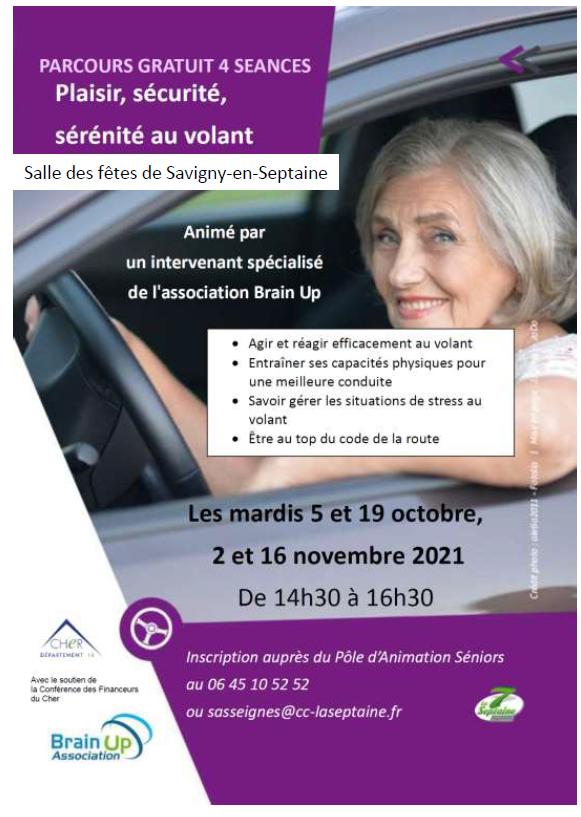 Brain up - Plaisir, sécurité, sérénité au volant  Savigny en Septaine 2021.png