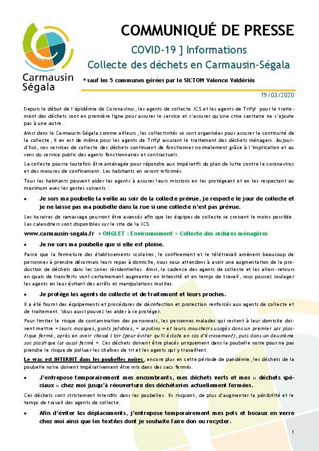 3CS - Communique de presse 19 03 2020 - Continuite de la Collecte des de...-p1.jpg