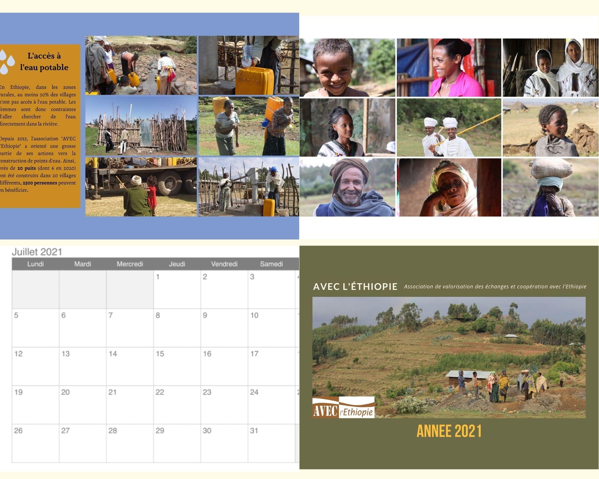 Le Calendrier 2021 vient de sortir!   Avec l'Ethiopie