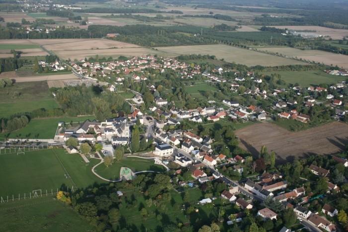 Village vue aérienne