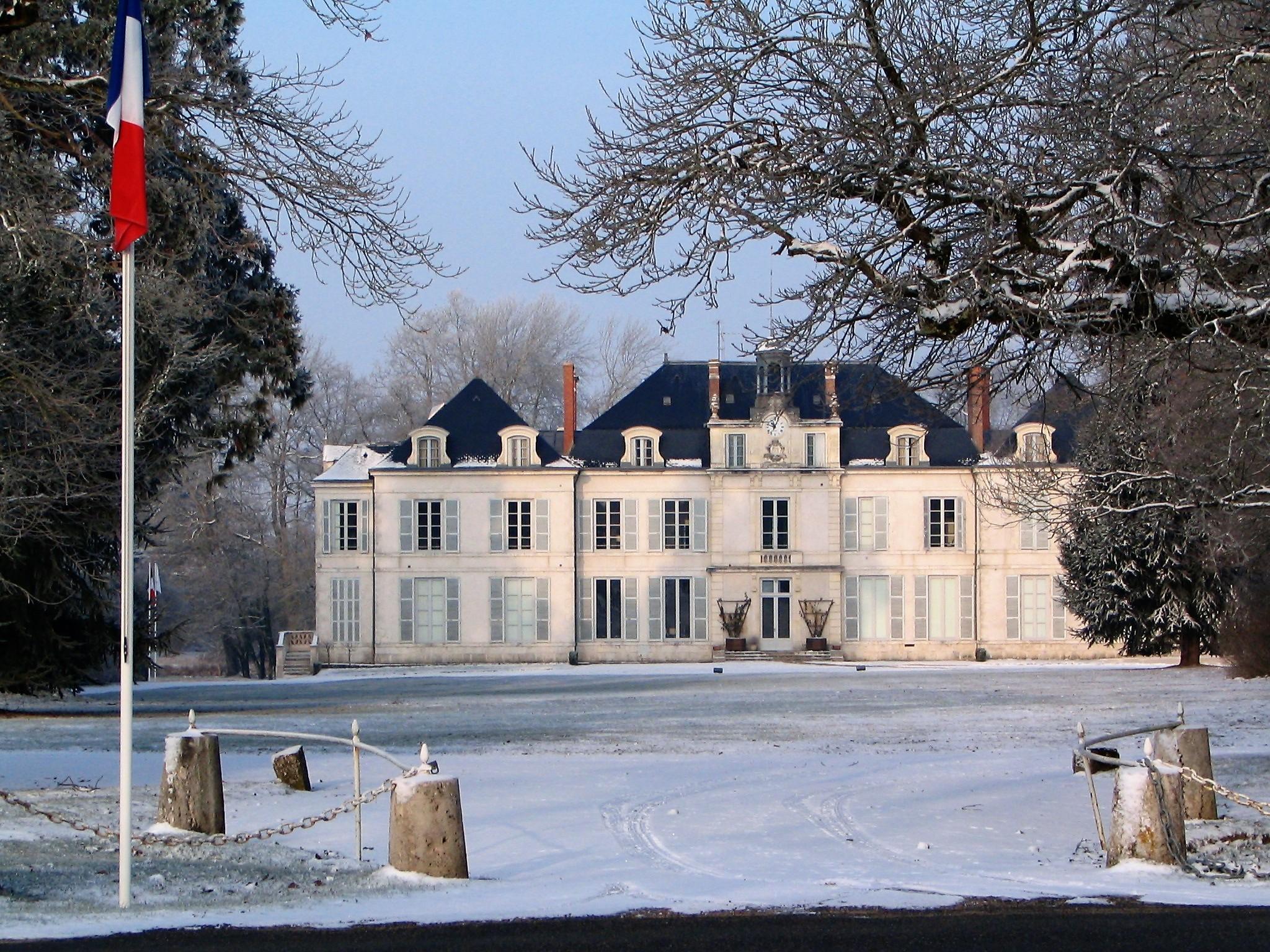 Chateau sous la neige