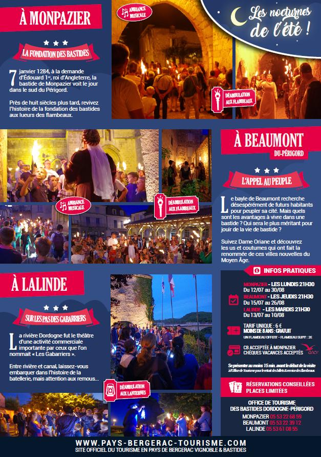 Visites aux flambeaux Lalinde Monpazier Beaumont flyer.PNG