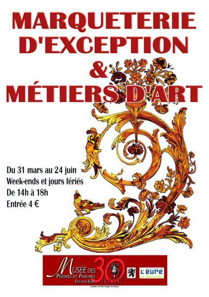 affiche exposition métiers d'art marqueterie