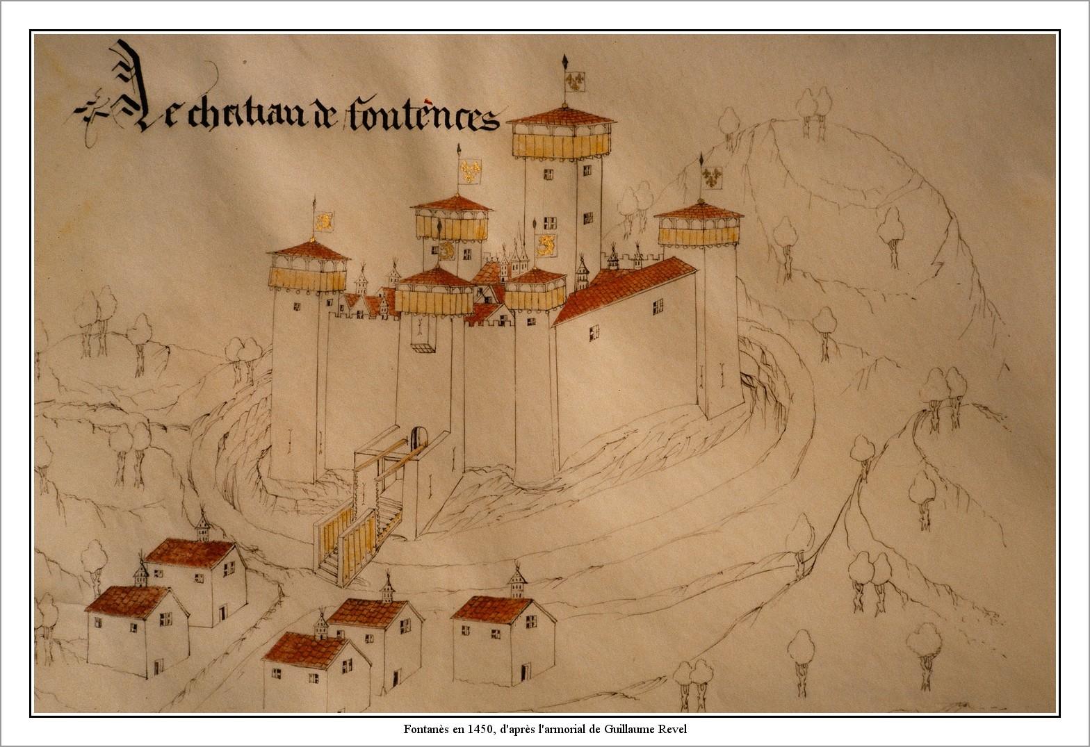 Fontanès en 1450, d_après l_armorial de Guillaume Revel.jpg