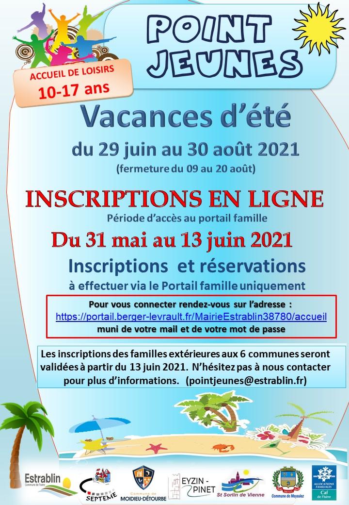 2021-05-21 Infos Parents Inscriptions ETE 2021 Pt Jeunes