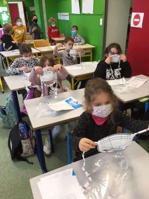 Enfants masques école