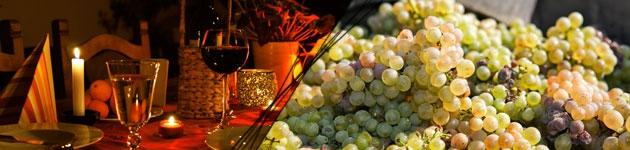 Montage vin et raisins