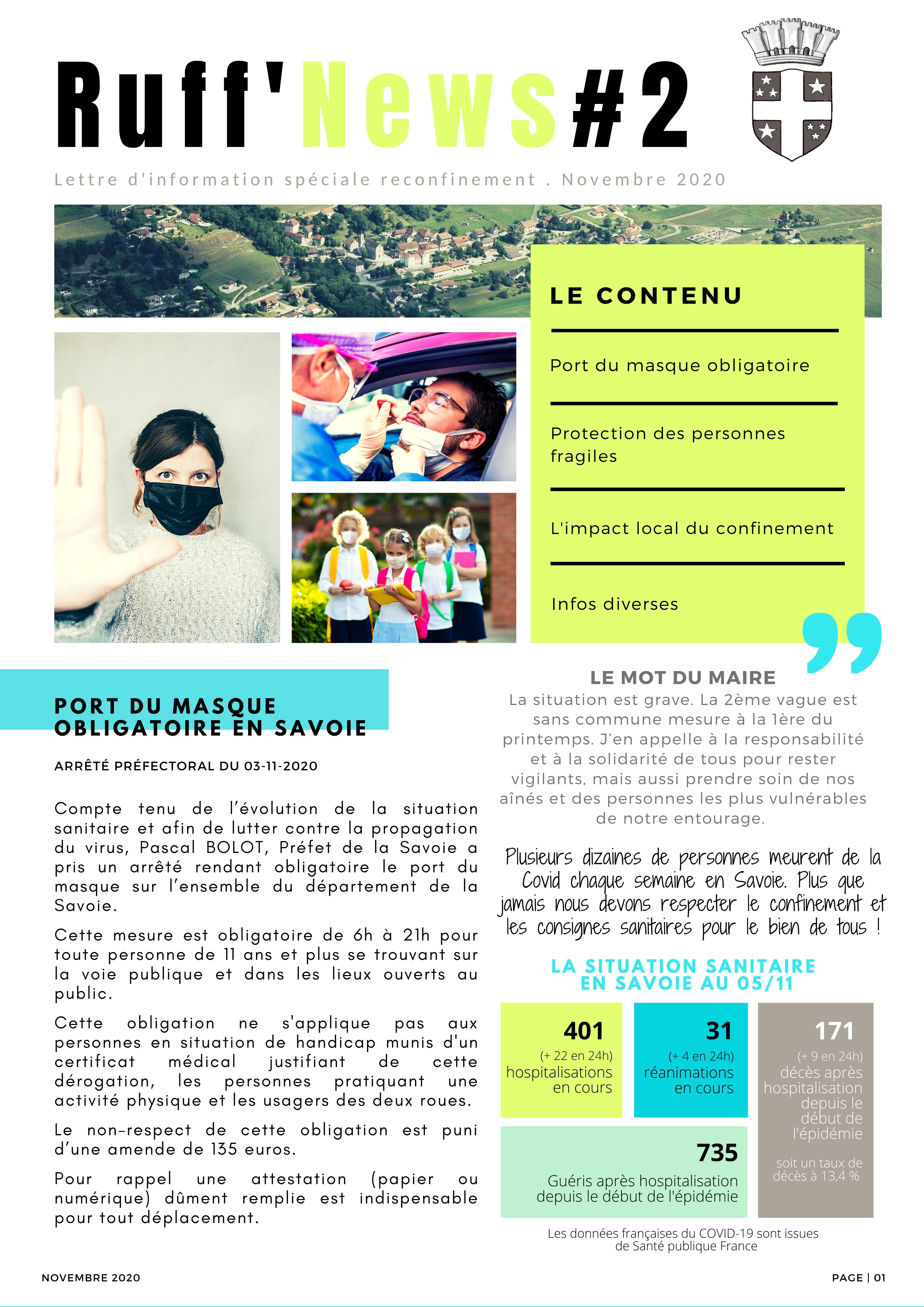 1ERE PAGE NEWSLETTER NOV 2020