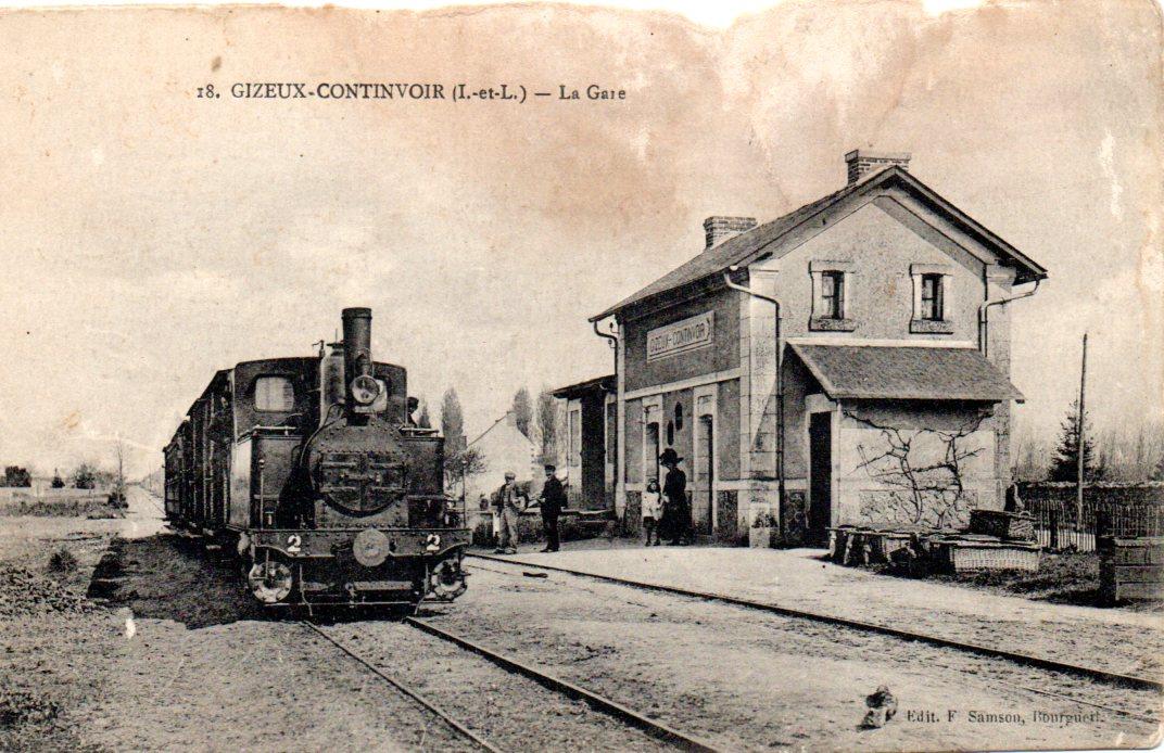 img006-Gizeux-Continvoir-La Gare 1916.jpg