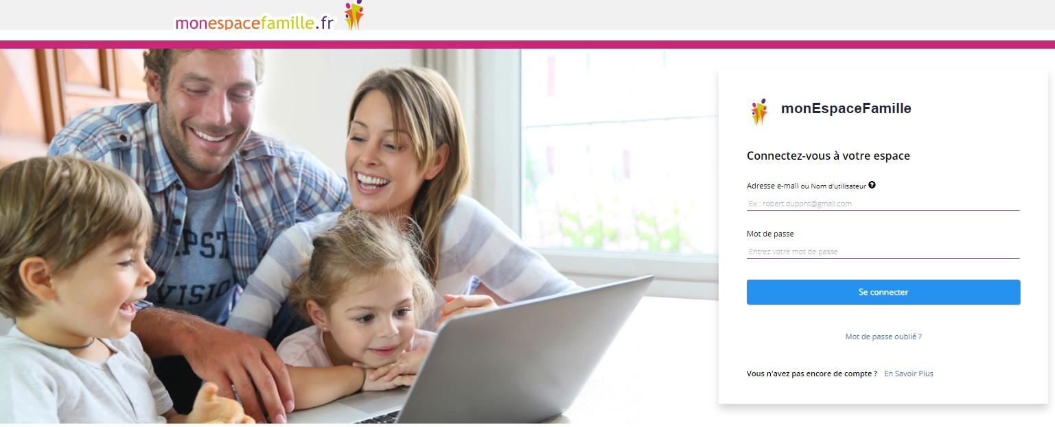 Cliquez sur l'image pour accéder au portail famille
