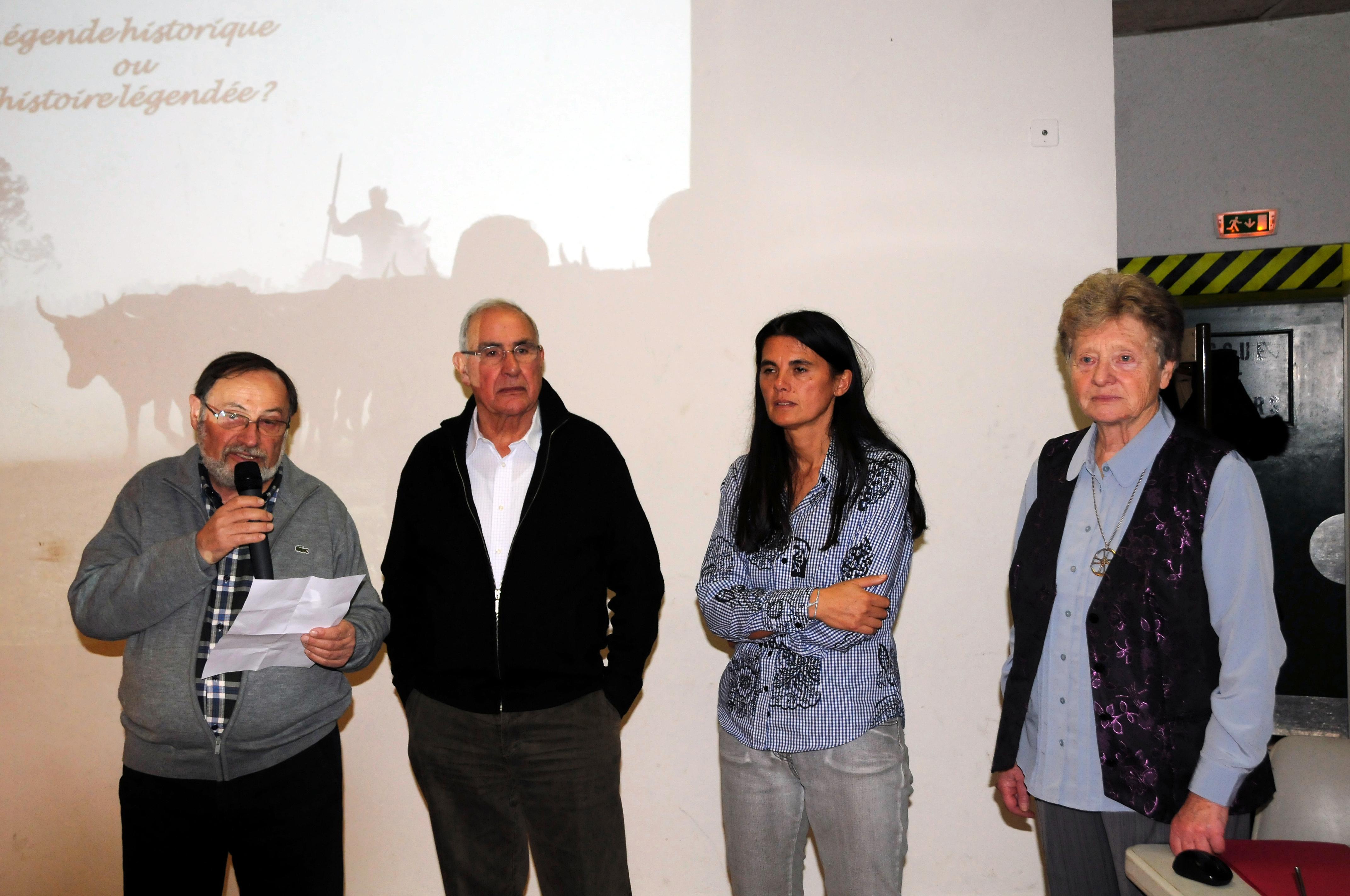 Georges PIERRE,André GARDIES,Annelyse CHEVALIER et Monique BARRIERE.JPG