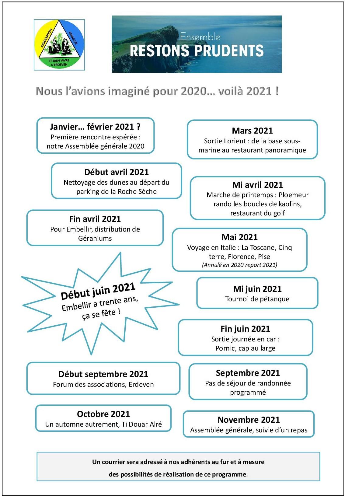 Programme annuel Embellir 2021