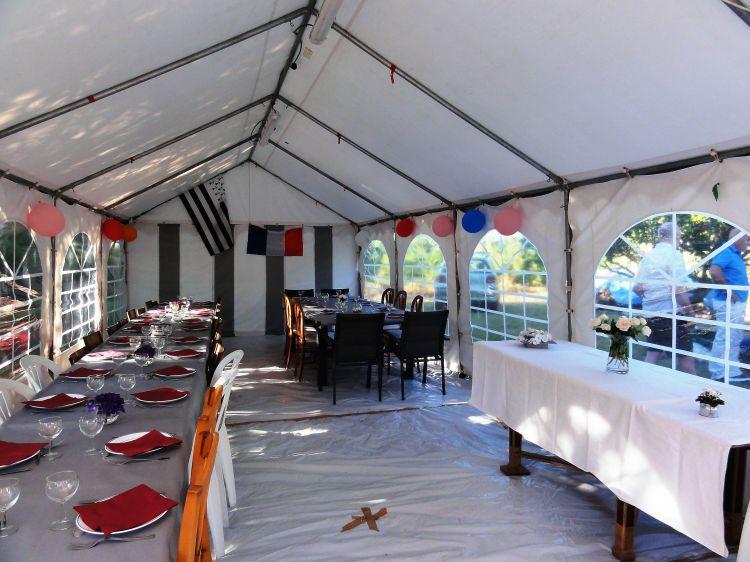 2017 - La tente 40m2 à Riantec - vue intérieure
