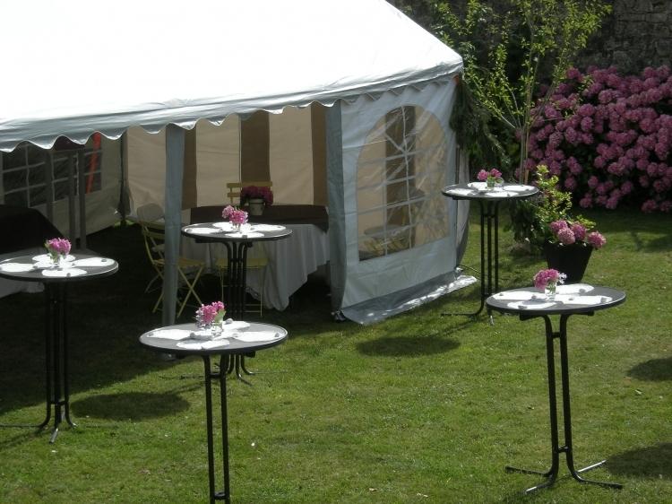 La tente 40m2 lors d'un mariage à Port-Louis