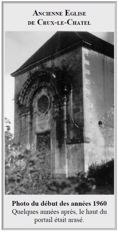 ancienne église de crux le chatel