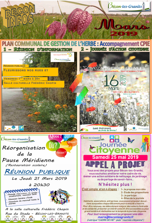 Couverture feuille infos mars 2019