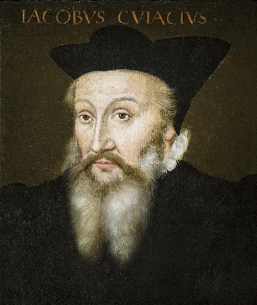 Jacques Cujas, professeur à Valence de 1558 à1559