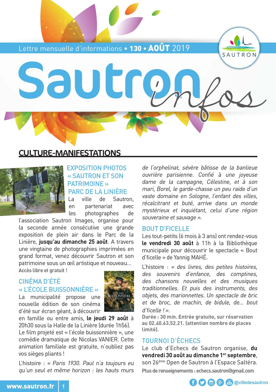 Sautron Infos Août 2019