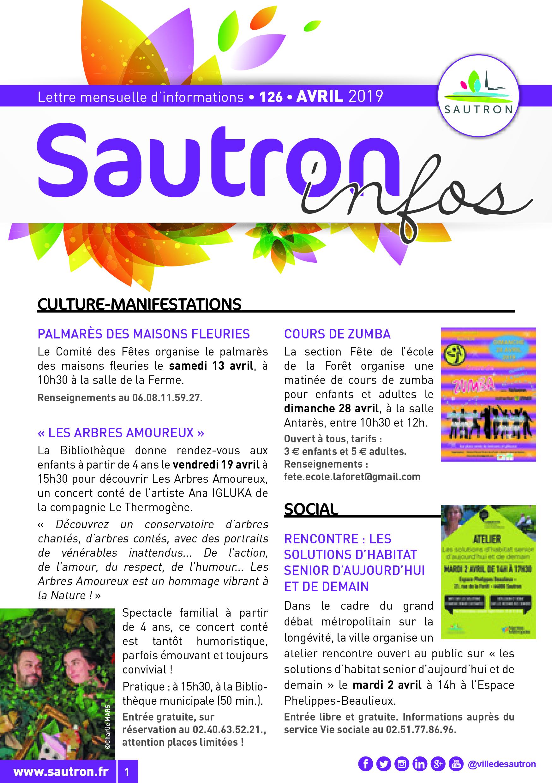 Sautron Infos Avril 2019