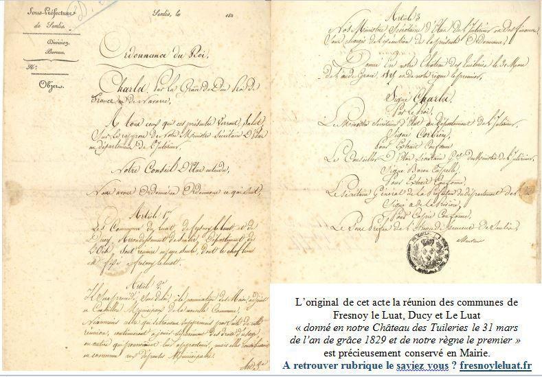 Ordonnance chef lieu Fresnoy le luat 1829.JPG