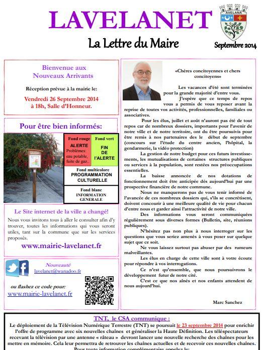 Lettre du Maire - Septembre 2014.JPG