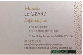 Carte de visite Murielle LE GRAND