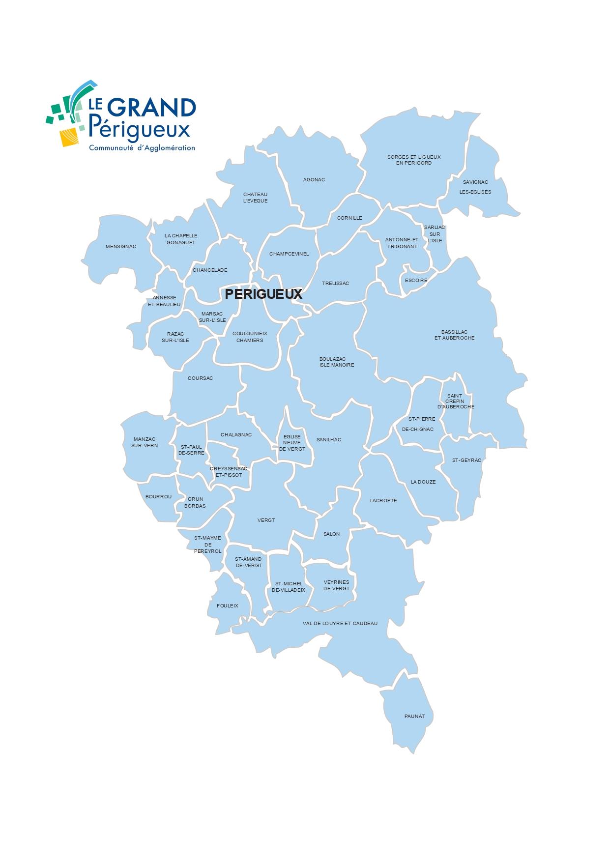 Plan des communes Grand Périgueux