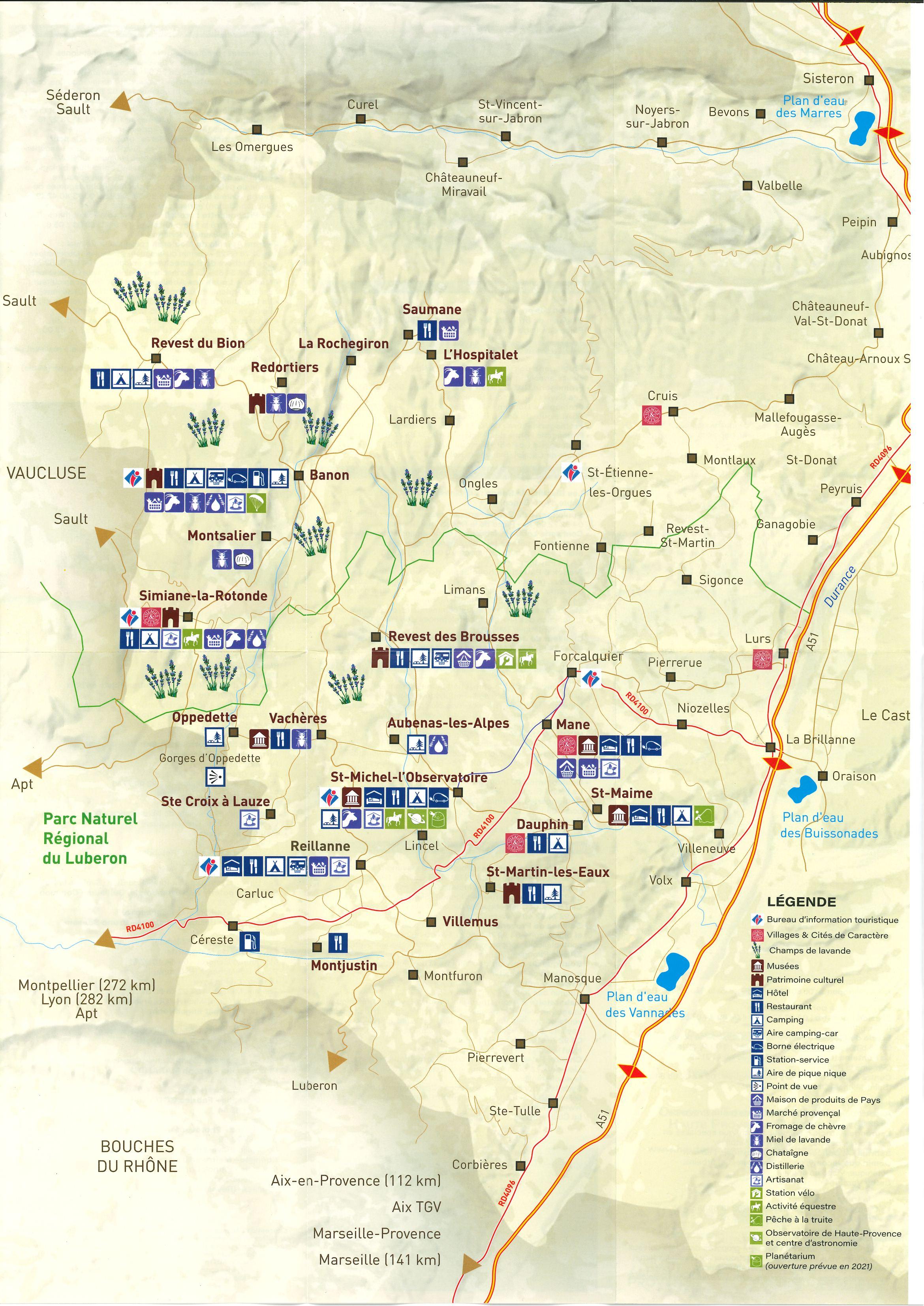 Carte Touristique HPPB 2020 / verso
