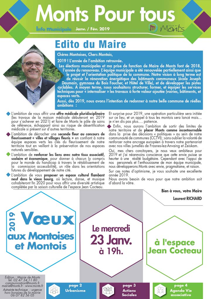 Info Municipale Janvier / Février 2019