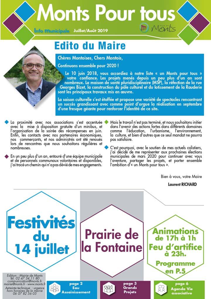 Info Municipale Juillet / Août 2019