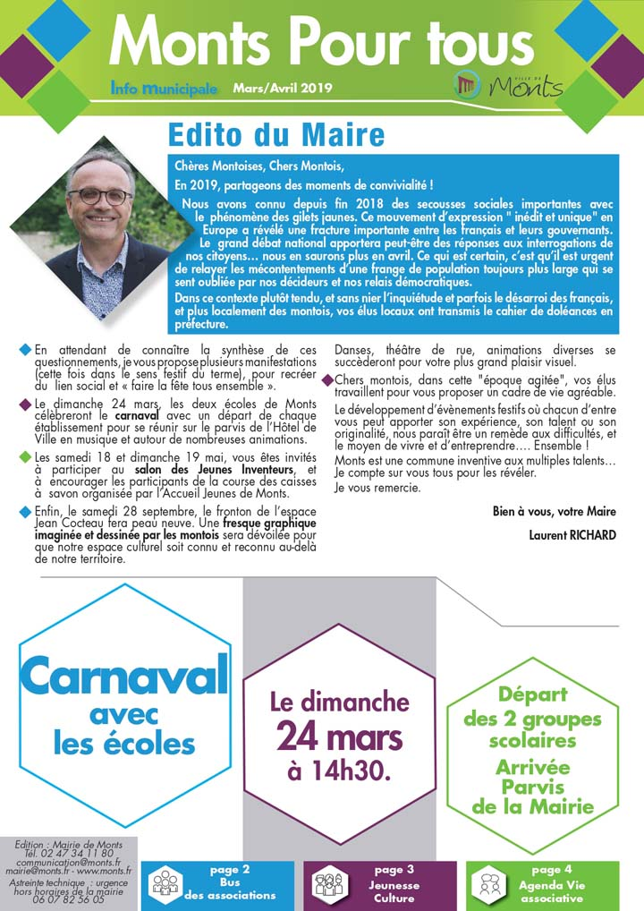 Info Municipale Mars / Avril 2019