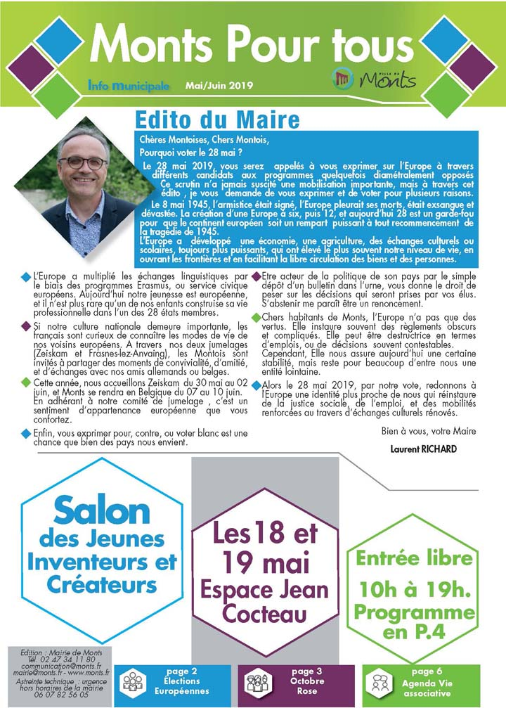 Info Municipale Mai / Juin 2019