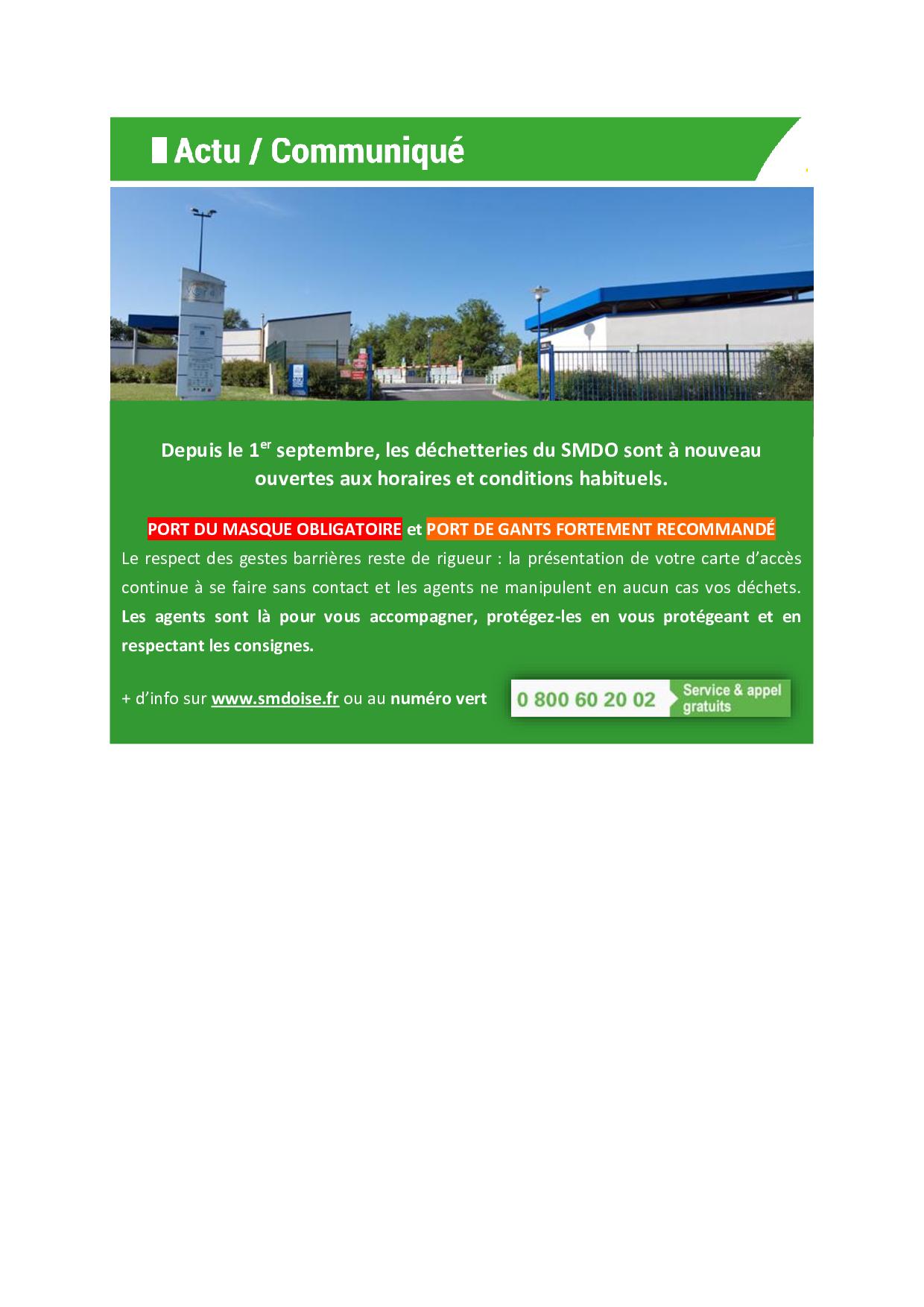 communiqué reprise normale déchetteries SMDO.png