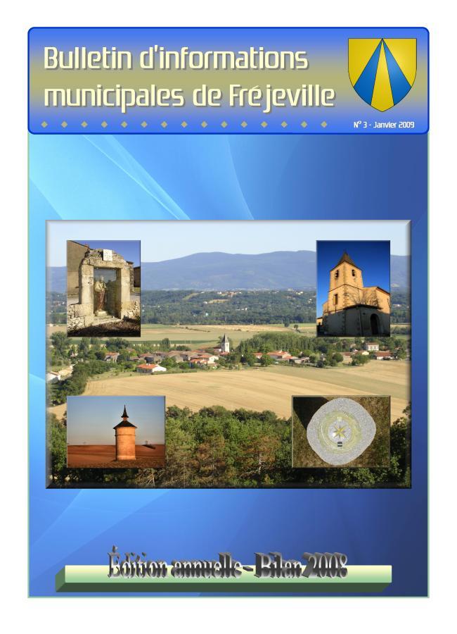 Bulletin municipal de la mairie de Fréjeville - N°3 (A4) - Janvier 2009