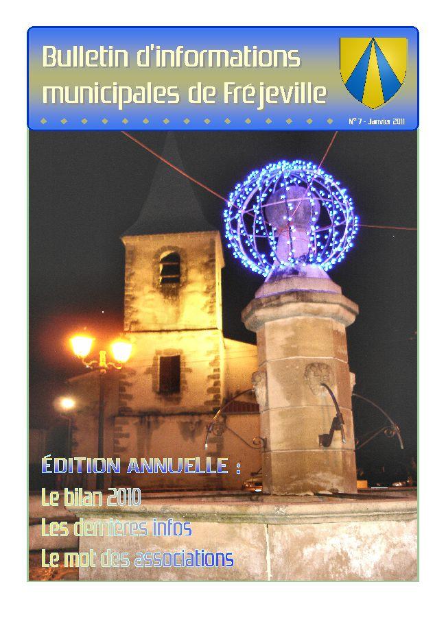 Bulletin municipal de la mairie de Fréjeville - N°7 (A4) - Janvier 2011