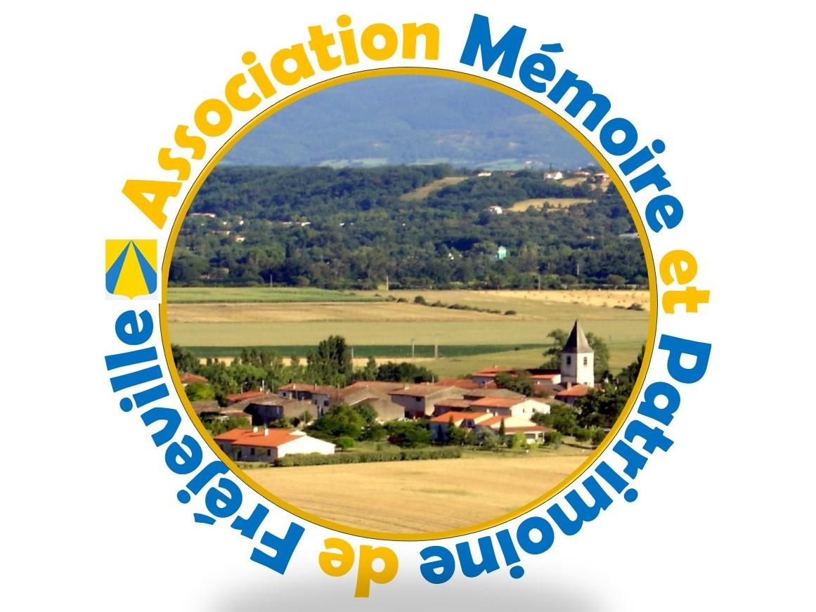 """Logo Association """"Mémoire et patrimoine de Fréjeville"""""""