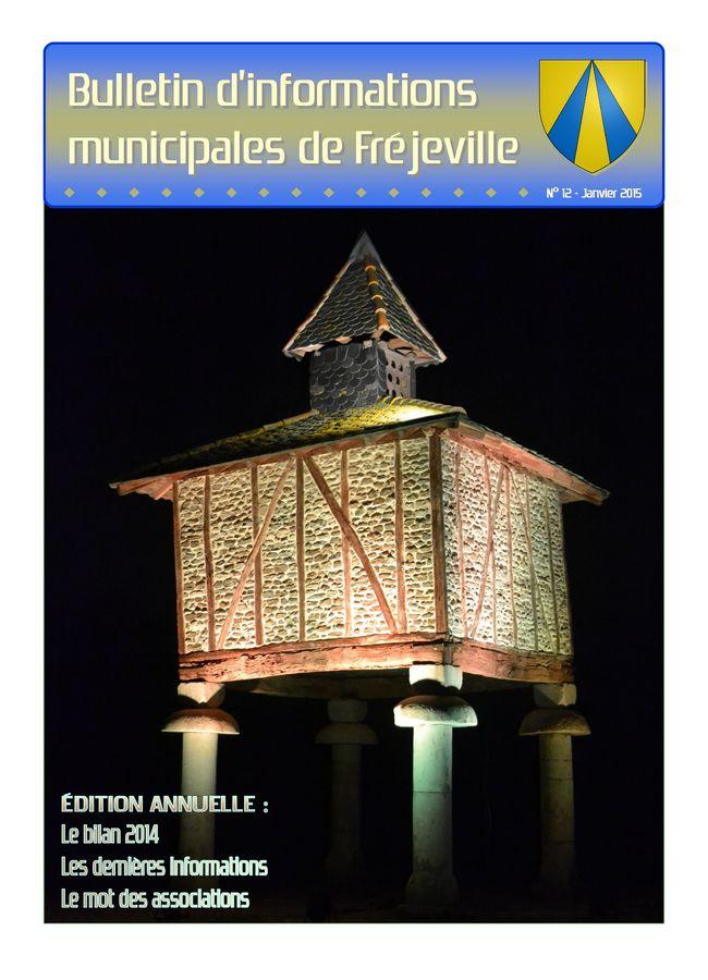 Bulletin municipal de la mairie de Fréjeville - N°12 (A4) - Janvier 2015
