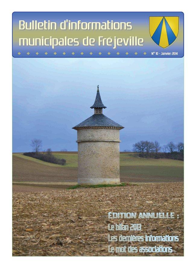 Bulletin municipal de la mairie de Fréjeville - N°10 (A4) - Janvier 2014