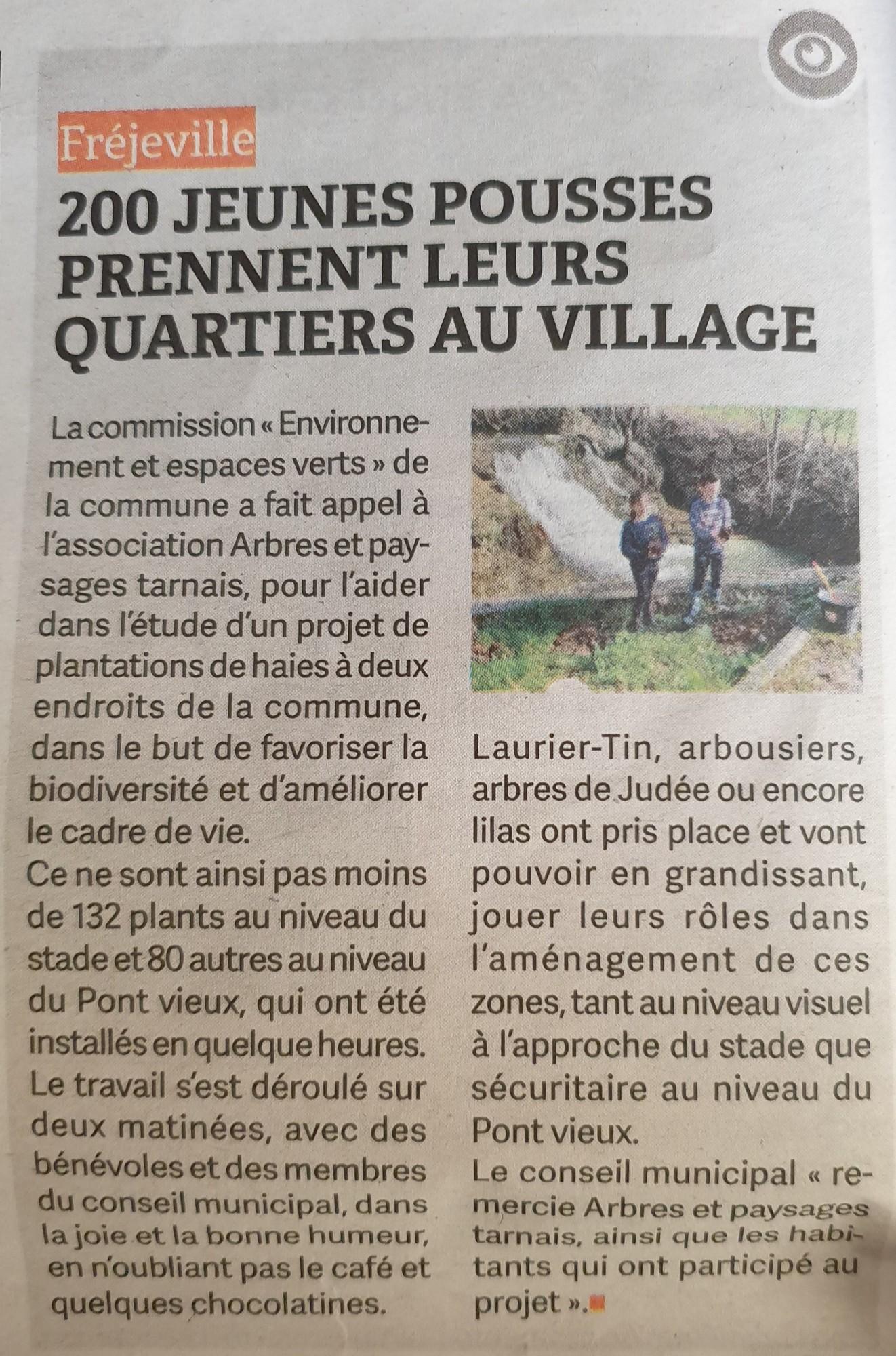 Article Plantation de haies - Le Journal d_Ici - 11-03-2021.jpg