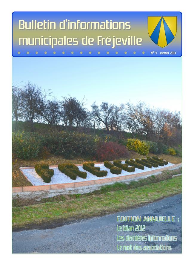 Bulletin municipal de la mairie de Fréjeville - N°9 (A4) - Janvier 2013