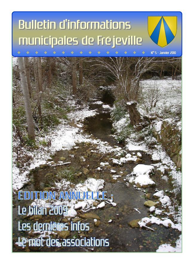 Bulletin municipal de la mairie de Fréjeville - N°5 (A4) - Janvier 2010