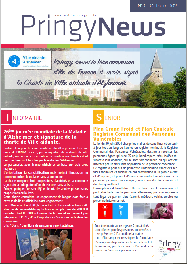 Pringy News octobre 2019
